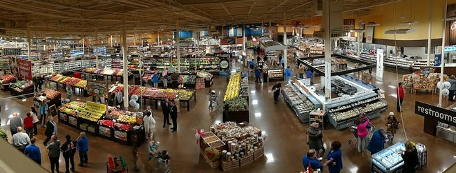 A second floor view of the newly renovated West Lafayette Payless.
