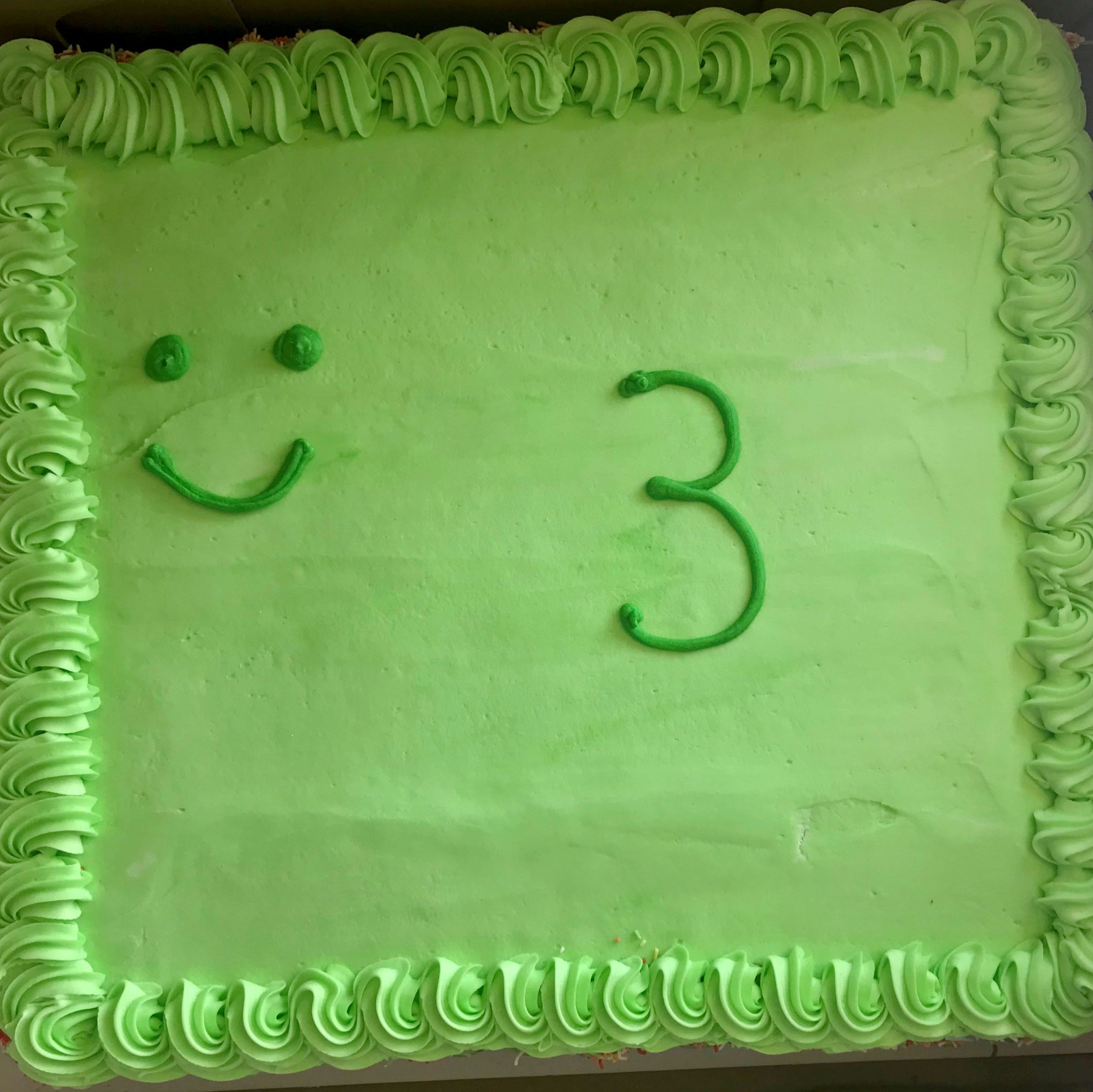 'Pathetic' frog birthday cake leave parents 'mortified'