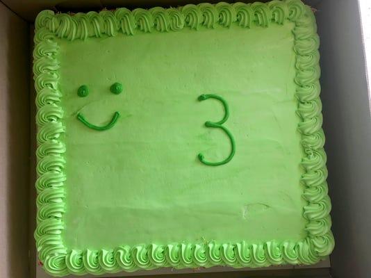 Dad Slams Bday Cake