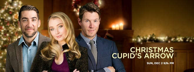 """""""Christmas Cupid's Arrow"""" debuted on ION in 2018. The movie was filmed in Lafayette and features many locales in the film."""