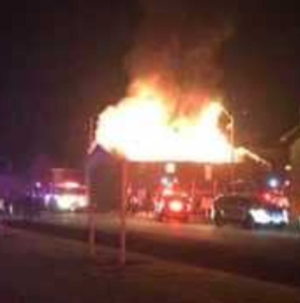 Apartment destroyed, 22 displaced after fire