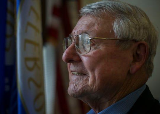 Councilman Glen Stuckel, in his office in City Hall.