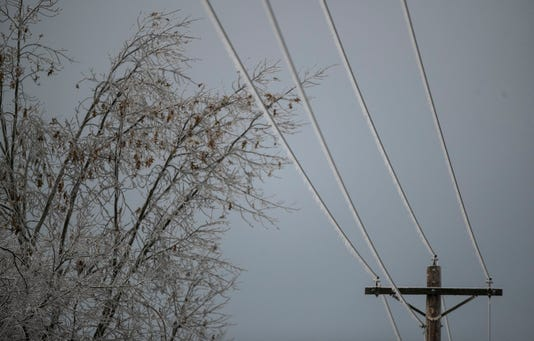 Icy Power Line