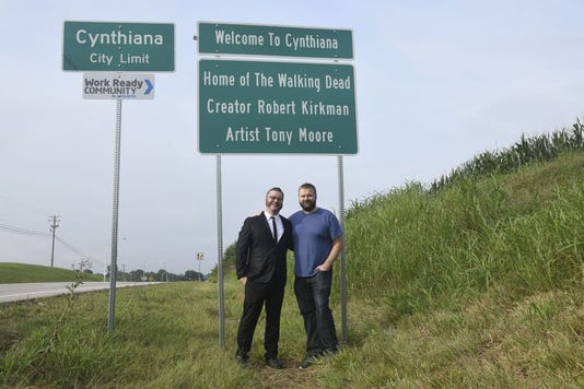 """The Walking Dead"" co-creators Tony Moore and Robert Kirkman"