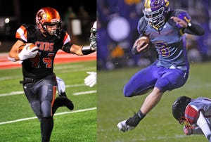 Lucas' Jeb Grover was named the Mansfield News Journal Offensive Player of the Year while Lexington's Cade Stover was named the Mansfield News Journal Defensive Player of the Year in 2018.