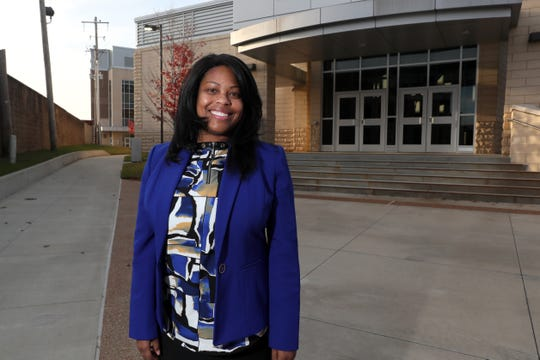 Felicia Orr has mentored more than 100 college students through tnAchieves, which supports students in the Tennessee Promise program. Orr is seen here on the Southwest Tennessee Community College campus, where many of her students have attended class.