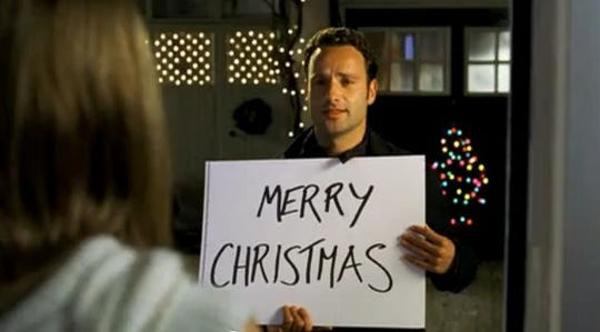 "Love (usually) finds a way during the holidays in ""Love Actually."""