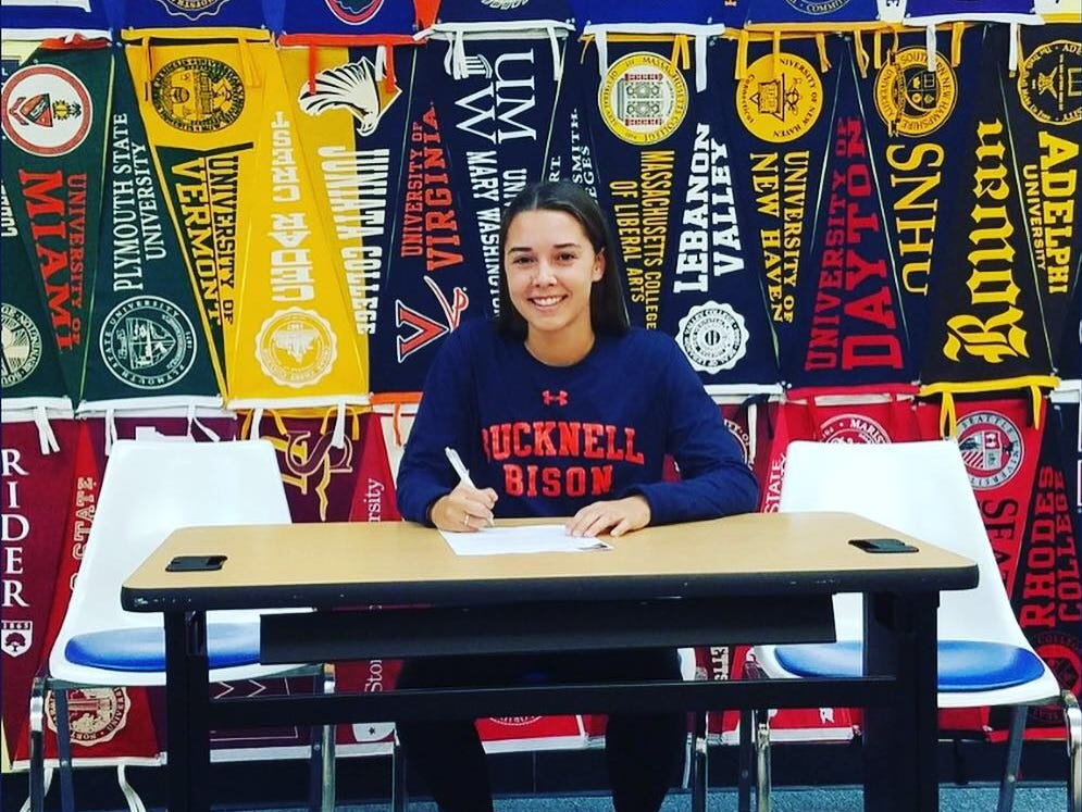 Madison senior Leah Rutland signed a National Letter of Intent with Bucknell lacrosse