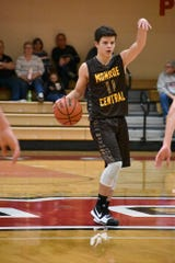 Monroe Central's Will Jones sets up the offense in a game last season. Jones averaged 10 points per game as a sophomore.