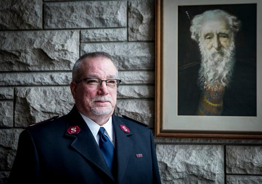 Major Mark Litherland of the Muncie Salvation Army at their headquarters on Wheeling Avenue Friday morning.