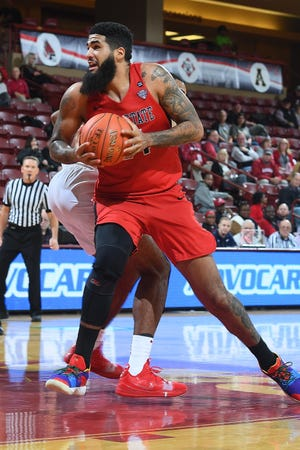 Ball State's Trey Moses makes a move against Alabama on day two of men's basketball action in the 2018 Charleston Classic at TD Arena on Friday, November 16, 2018 in Charleston, South Carolina.