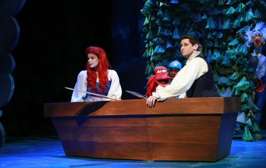 """Catherine Birdsong,  James  Rudolph and Corbin  William in NCT's production of """"The Little Mermaid."""""""