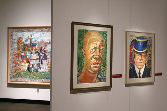 "Installation view of ""Red Grooms: A Retrospective"" on view at the Tennessee State Museum.  Image"