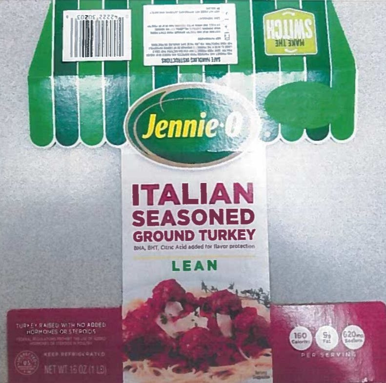 Turkey recall: Jennie-O recalls 91,388 pounds of raw turkey amid salmonella outbreak