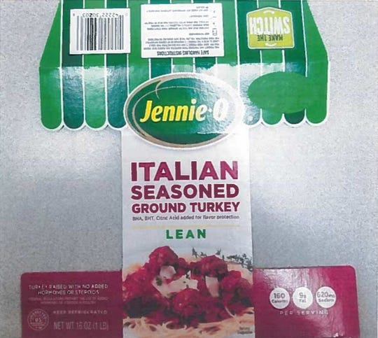 One of the Jennie-O products recalled due to possible salmonella contamination