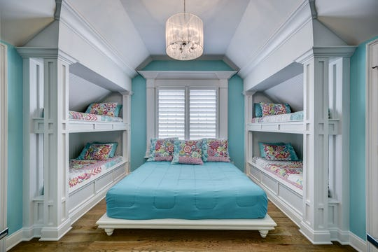 Bunk beds in the guest room help make good use of available space in Trey Pettis' house.