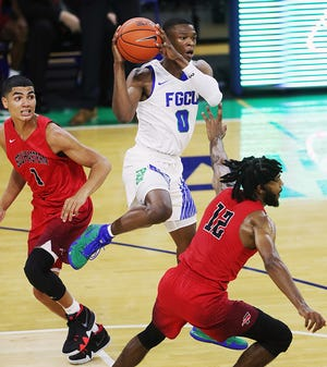 Junior guard Decardo Day is one of five newly eligible Eagles who are working hard to really fly the floor under first-year coach Michael Fly. FGCU will play three games just down Ben Hill Griffin Parkway from campus in Hertz Arena during Gulf Coast Showcase action Monday-Wednesday.