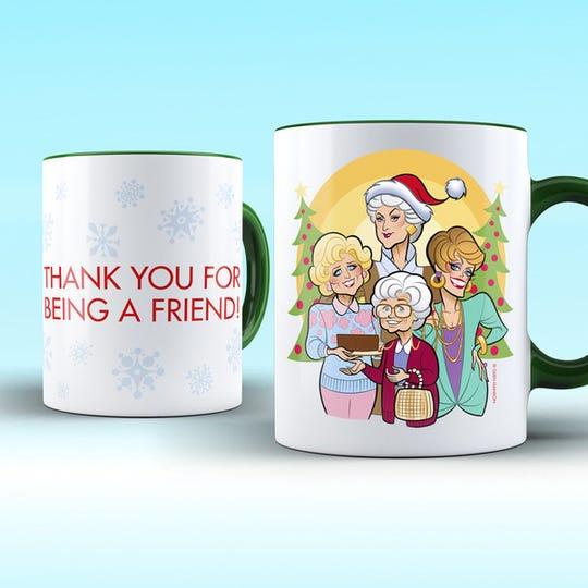 Four familiar mugs.