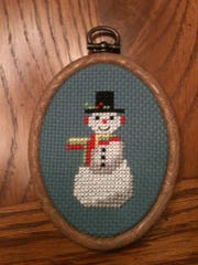 Cross-stitch collectibles from Gage Creations.