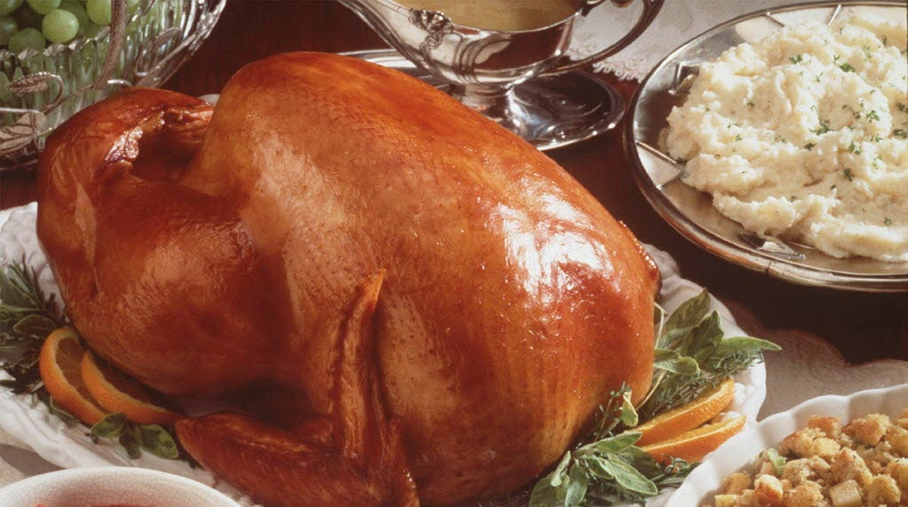 Turkey and sides for Thanksgiving: A favorite food time for columnist Karen Schloss-Diaz.