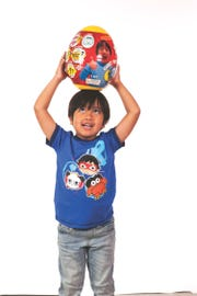 Ryan of Ryan ToysReview loves his giant eggs.