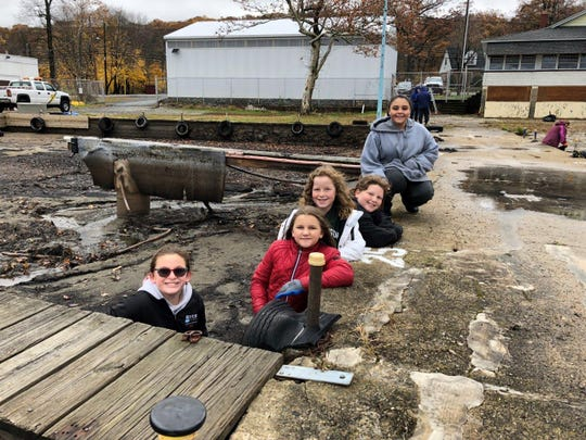 Girl Scouts from Troops 95611, 96119 and 96078 tackled cleanups at Mount Arlington Beach and Lee's County Park Marina on Lake Hopatcong on Nov. 3, 2018.