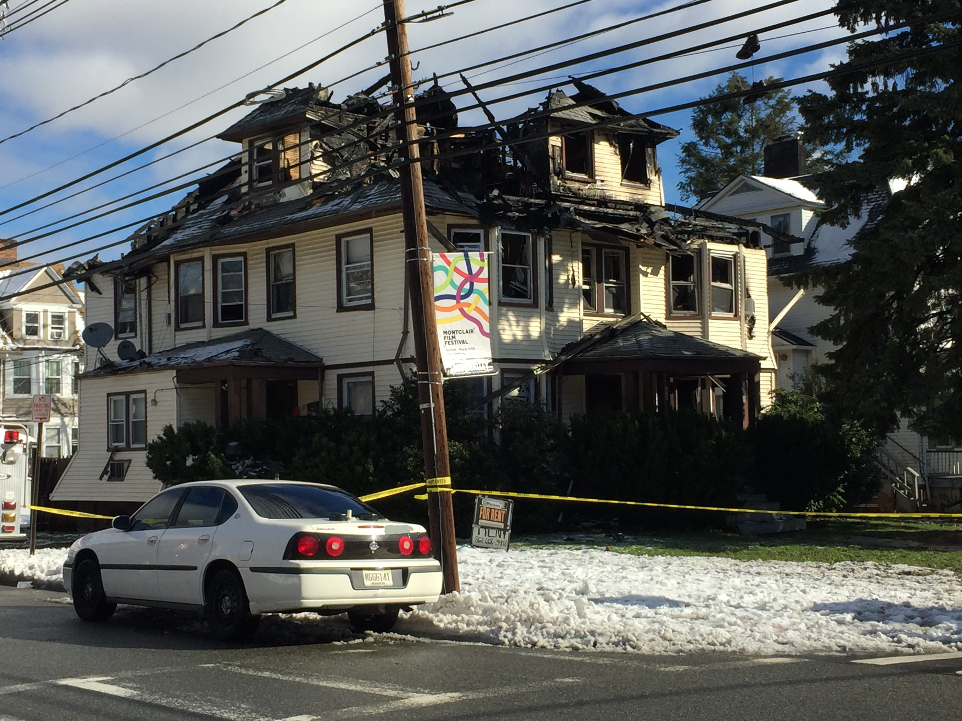 The aftermath of a fire that destroyed a multi-story home on the corner of Walnut Street and Valley Road in Montclair, NJ on Friday, Nov. 16, 2018