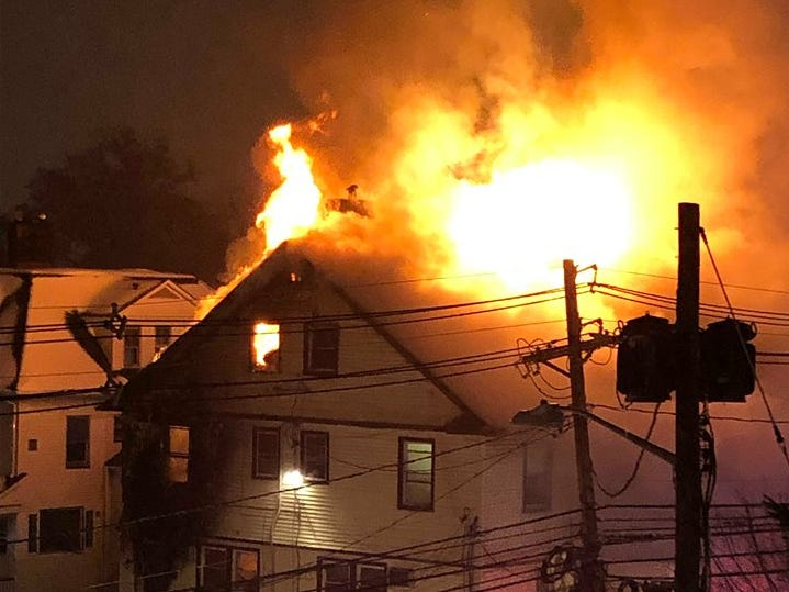 A house fire on Walnut Street in Montclair Nov. 15, 2018.