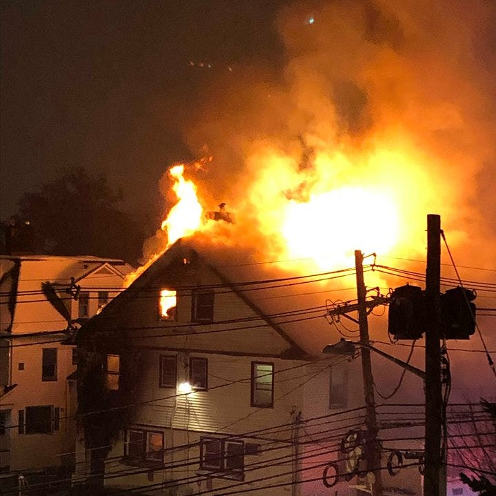 Massive Montclair house fire burns during snowstorm