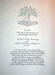 Wedding certificate.