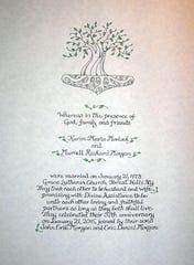 Wedding certificate.