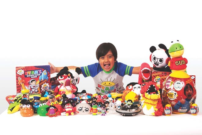 Ryan with some of his product line