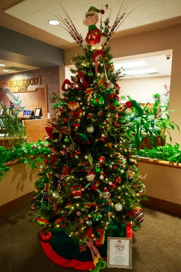 Community Bids On Christmas Trees Decorations In Holiday Fundraiser