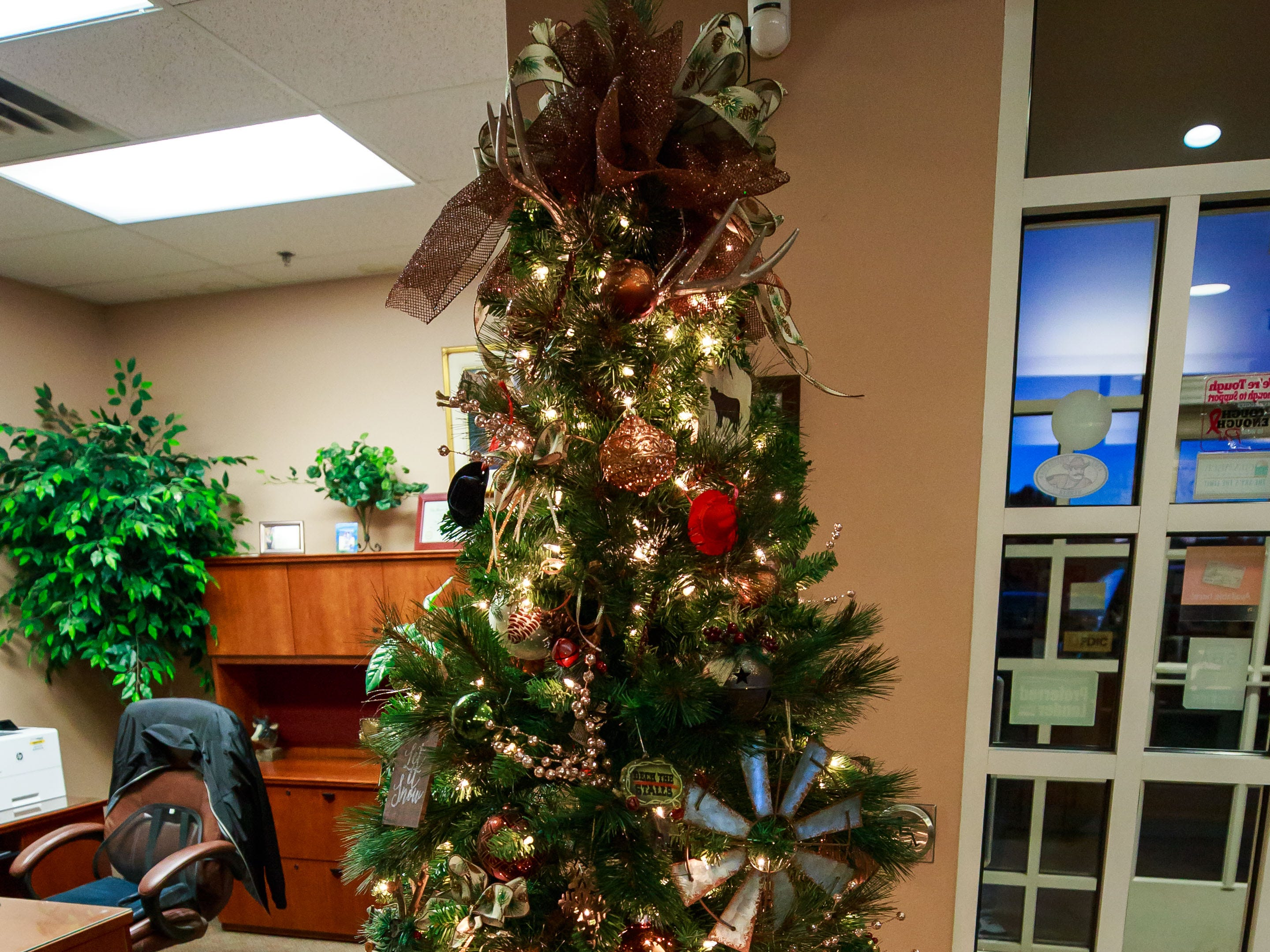 """Scrolls of Joy,"" donated by Torres Welding, Inc., was one of the items for sale in a benefit for Cowboys for Cancer Research, held Thursday, Nov. 15, 2018, at First American Bank."