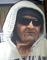 Alleged suspect in the Western Commerce Bank Robbery on Nov. 16, 2018.