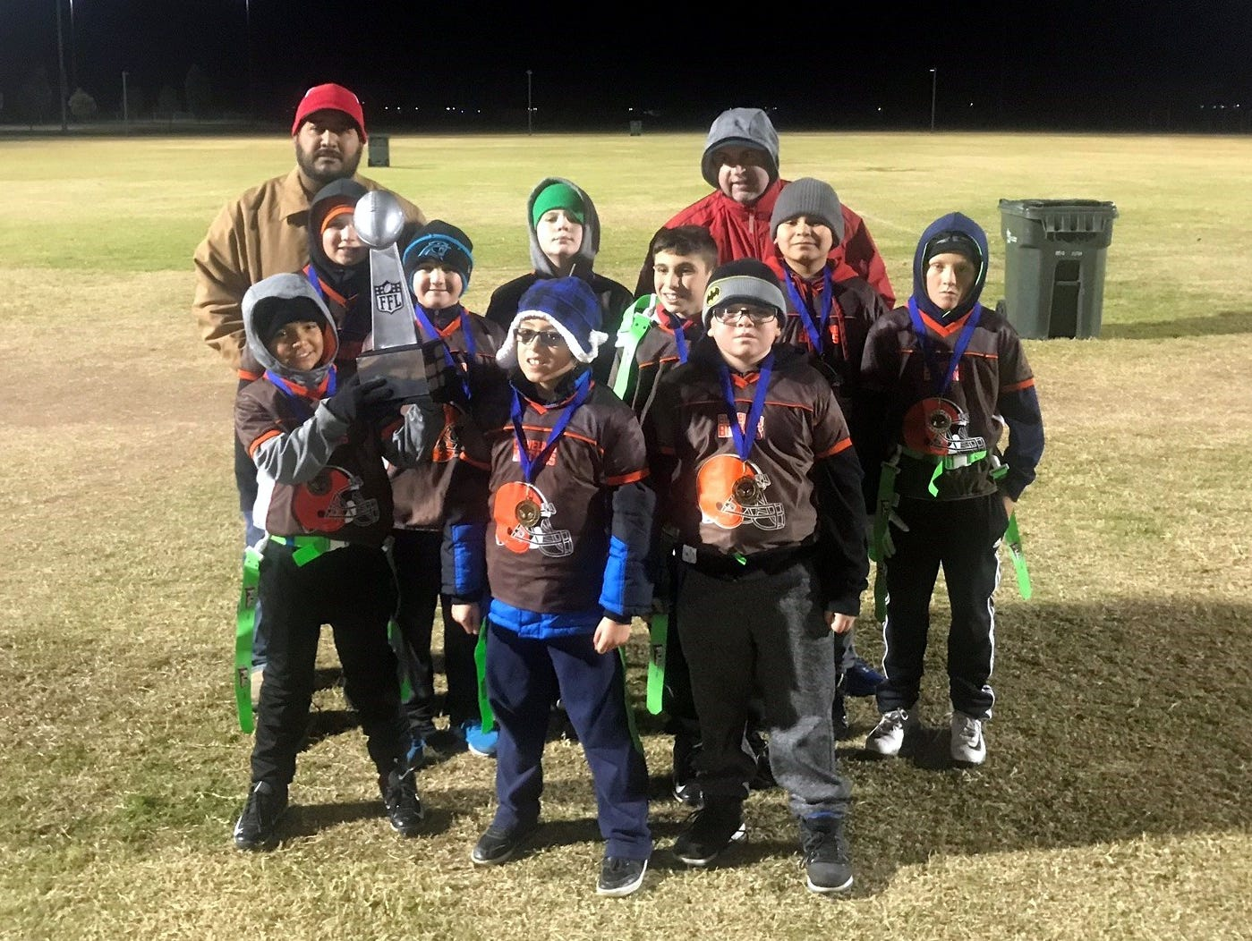 The Browns won the 4th-5th grade 2018 Carlsbad NFL Flag Football Superbowl.