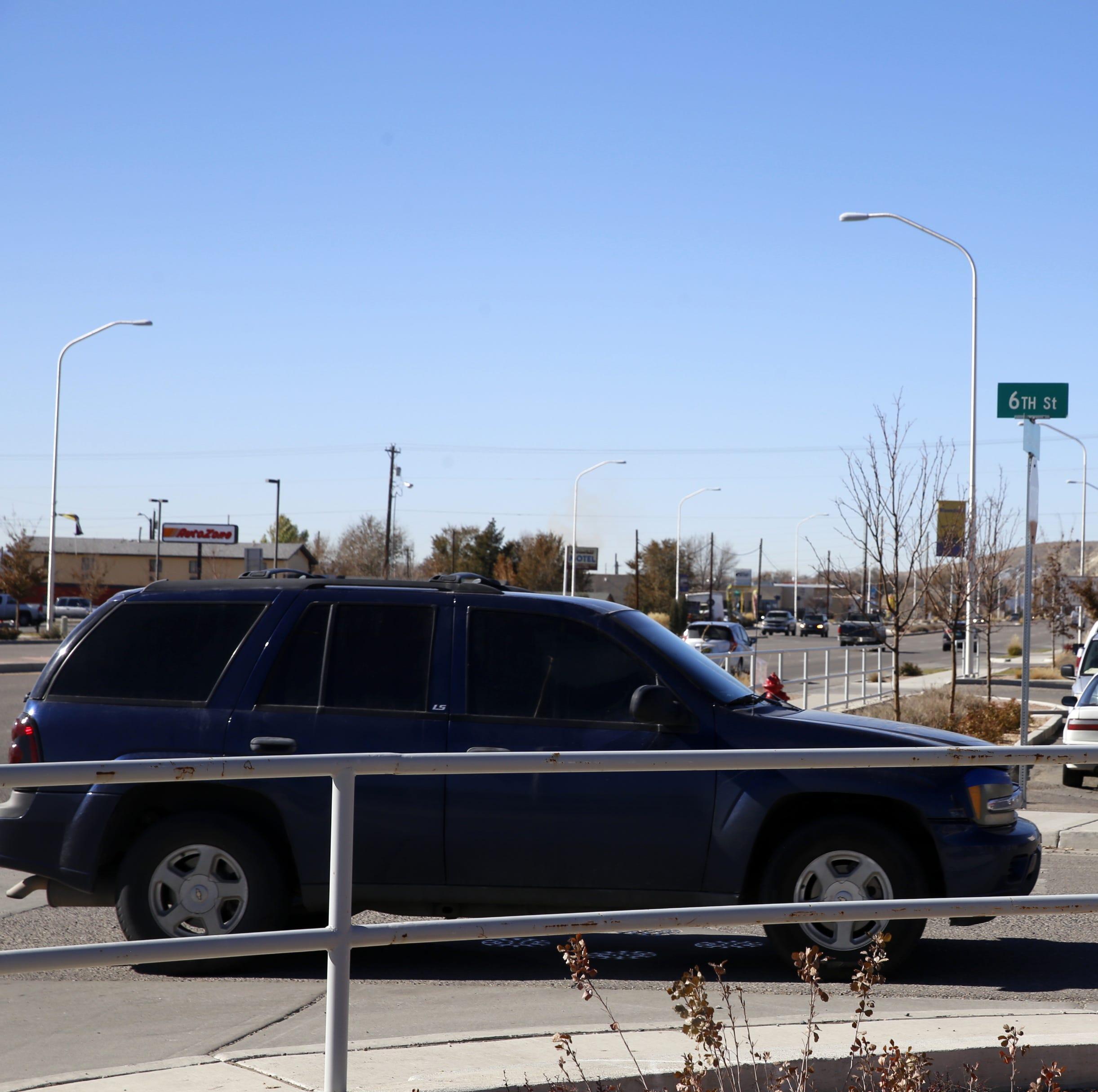 A car turns onto 6th Street, Thursday, Nov. 15, 2018, in Bloomfield.
