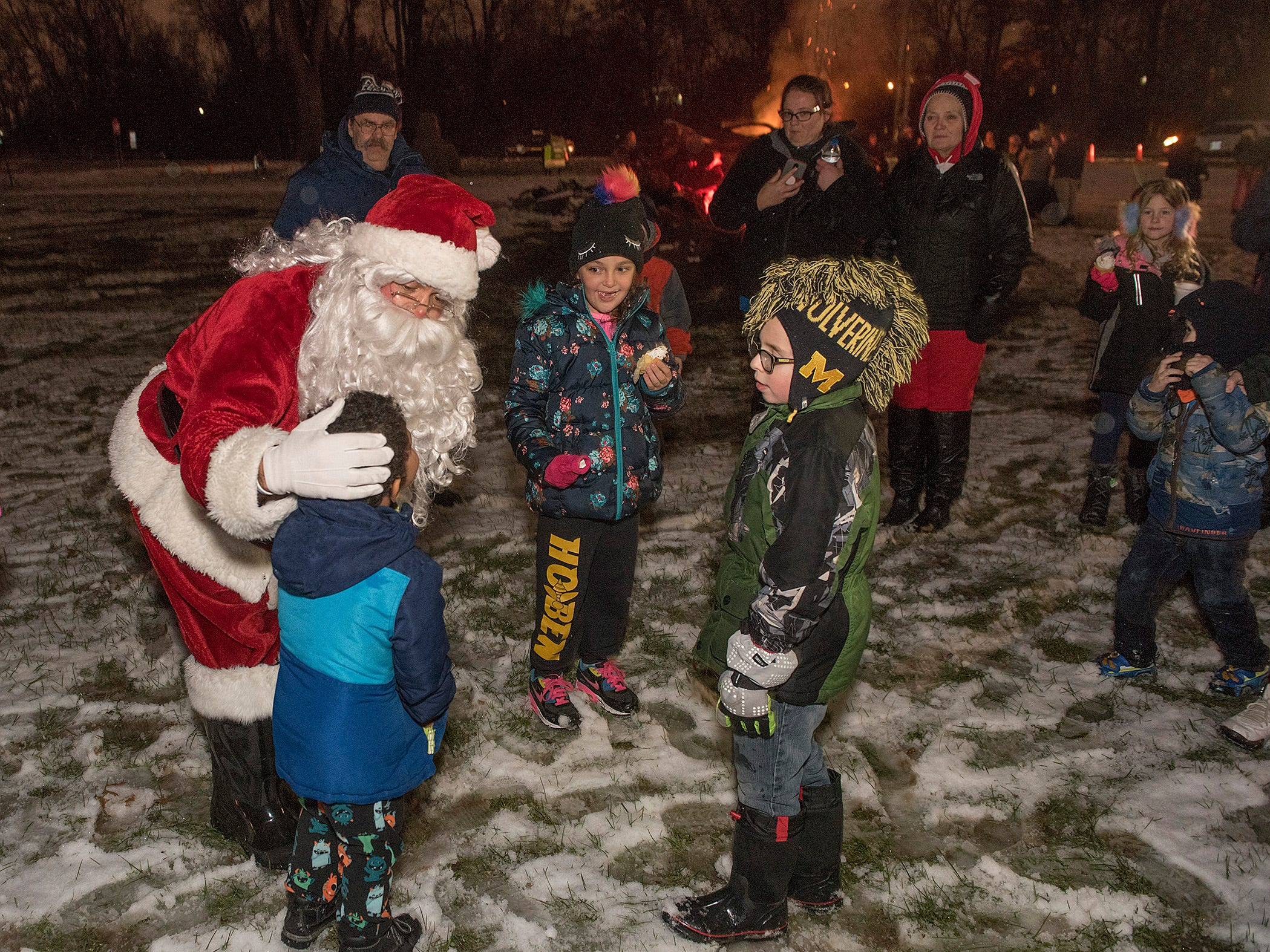 Santa is just about the most important guy around. He greets  few of his fans at Lightfest.