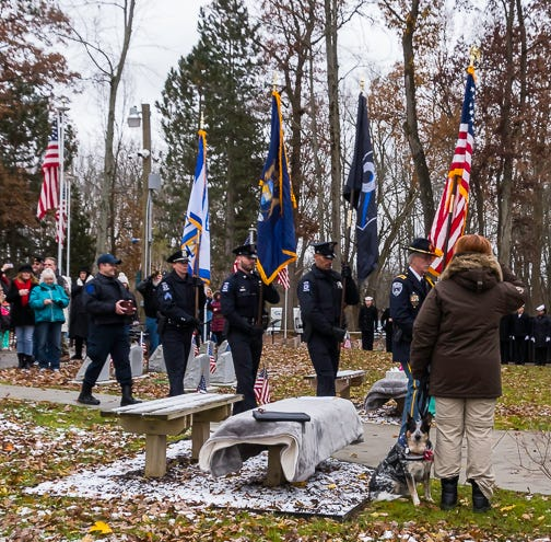 Saying goodbye: Novi police dog honored with service, funeral at War Dog Memorial