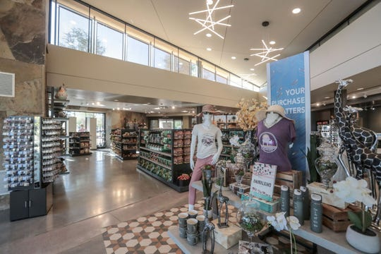 The new gift shop exit is attached to the Living Desert's new entrance on Thursday, November 15, 2018 in Palm Desert.