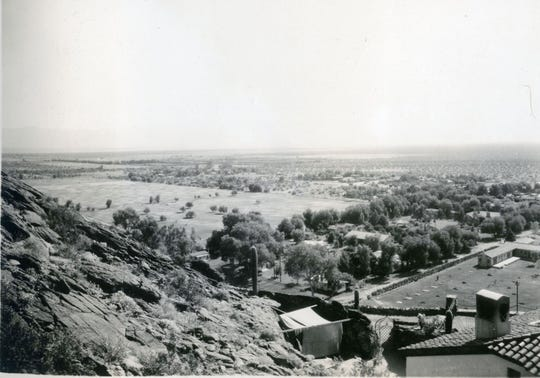 From the perch of the O'Donnell House looking out over the Desert Inn and golf course.
