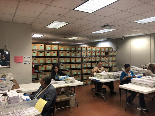 The Riverside County Registrar of Voters office has 34 permanent employees and 300 temporary employees.