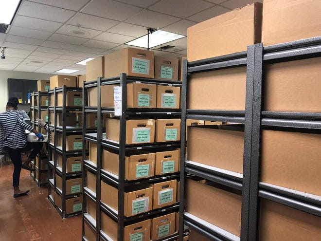 Some of the more than 100,000 ballots still in need of counting in Riverside County.