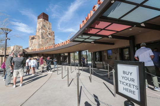 Electronic ticket kiosks at the new entrance to The Living Desert, in Palm Desert, will cut the time spent waiting in line to enter the zoo, officials say. (Thursday, November 15, 2018)