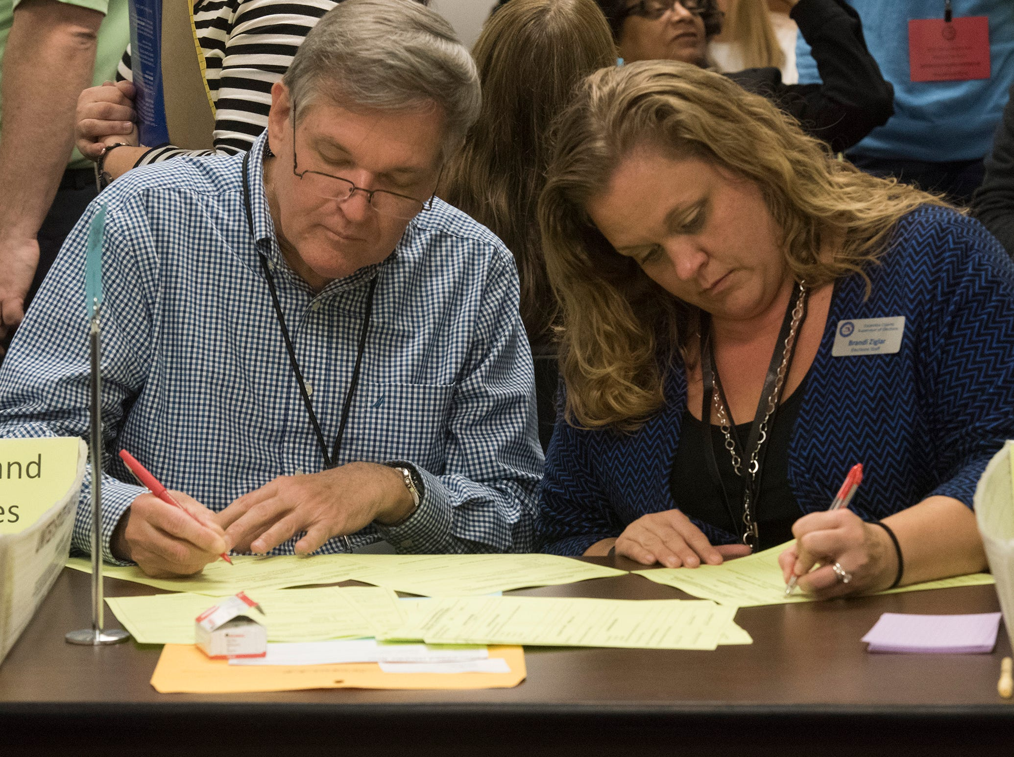 Votes in Escambia County counted by hand