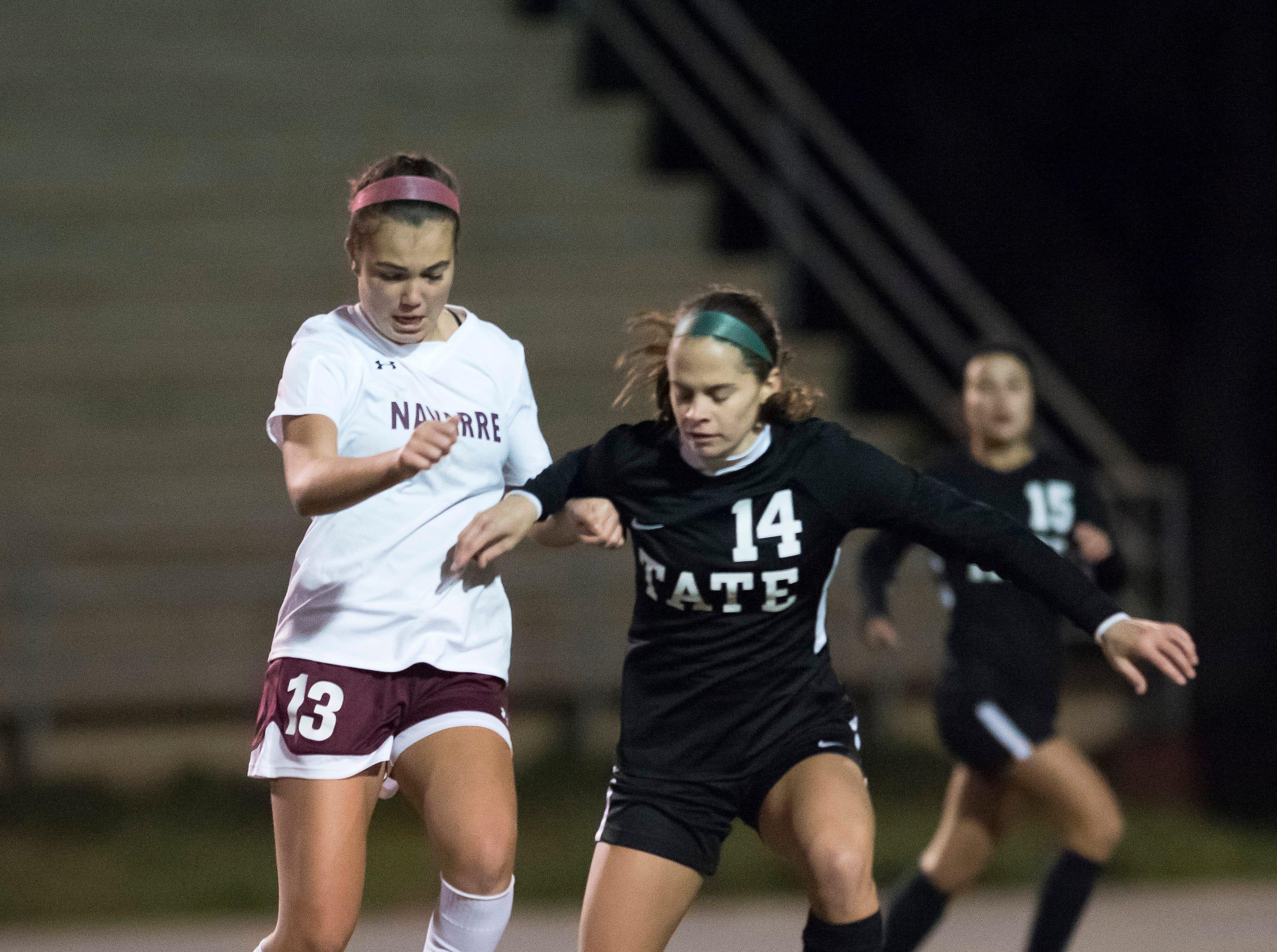Navarre and Tate girls soccer team meet in opener