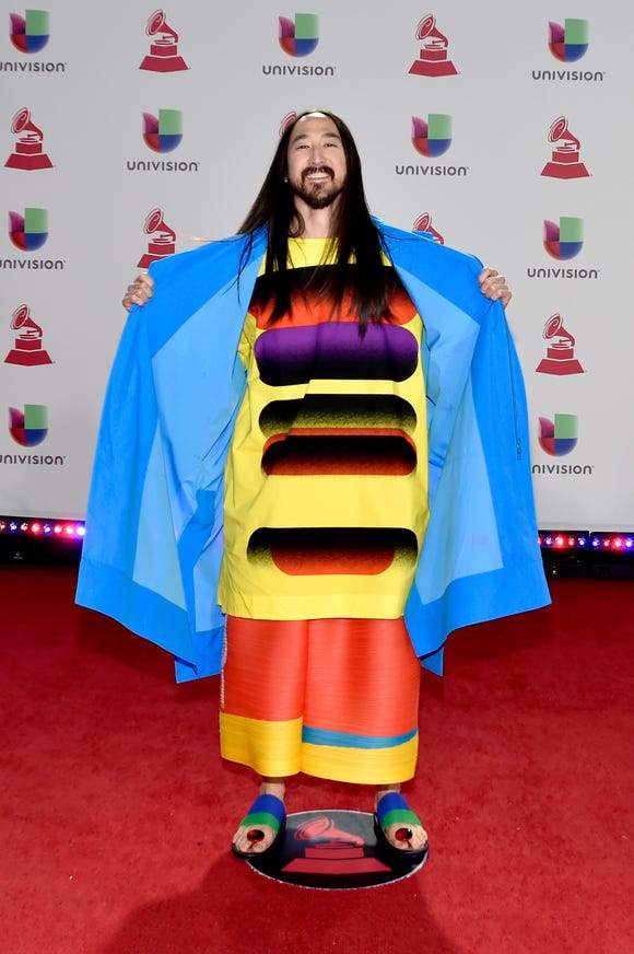 Steve Aoki attends the 19th annual Latin GRAMMY Awards on November 15, 2018 in Las Vegas, Nevada.