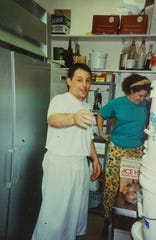 Chrysa Robertson and Chris Bianco in the kitchen at the original Rancho Pinot Grill at Town & Country in Phoenix, AZ.