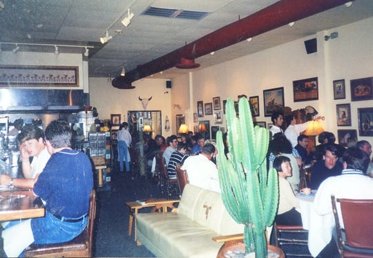The interior of Rancho Pinot's Scottsdale location on a busy night before the 1998 expansion.