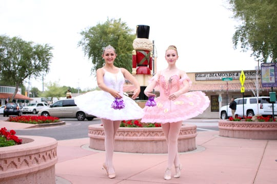 Downtown activities during Scottsdazzle, the annual holiday season include dance performances.